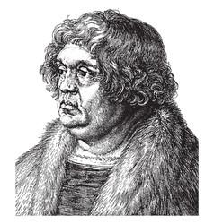 Wilibald pirkheimer was a german renaissance vector