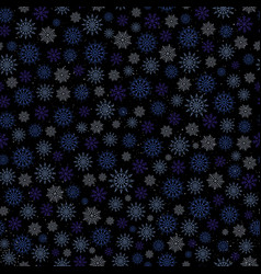 winter seamless pattern with glowing snowflake vector image