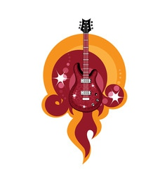 caustic guitar vector image