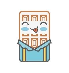 chocolate bar kawaii style isolated icon vector image