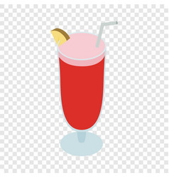 cocktail singapore sling isometric icon vector image
