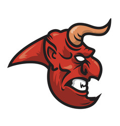 devil head vector image