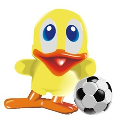duck with ball vector image