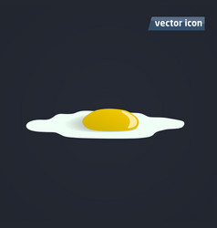 omelette flat shadow vector image vector image