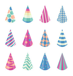 party different hats collection for a birthday vector image