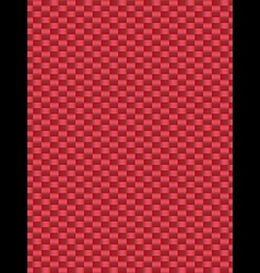 Red weave texture synthetic fiber geometric seamle vector image