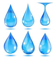 Set of opaque drops vector image