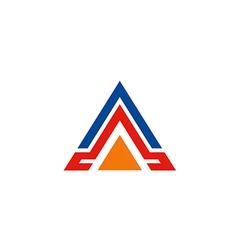 triangle business construction shape logo vector image