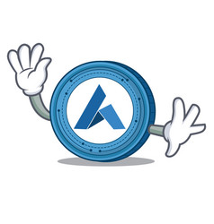 waving ardor coin character cartoon vector image vector image
