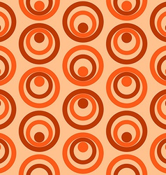 Abstract Colorful Retro Circles Seamless Pattern vector image vector image