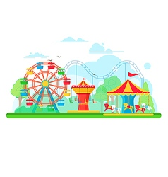 Amusement park vector