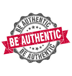 be authentic stamp sign seal vector image vector image