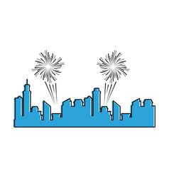 buildings cityscape silhouette icon vector image
