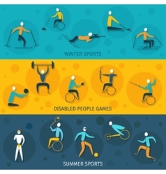Disabled Sports Banners vector image