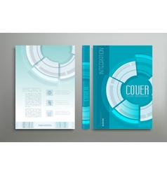 green-blue template cover vector image vector image