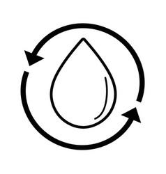 line water drop with arrows around vector image vector image
