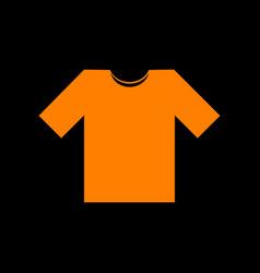 t-shirt sign orange icon on black vector image