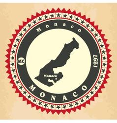 Vintage label-sticker cards of Monaco vector image vector image