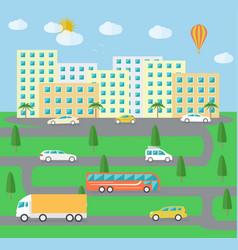 City town landscape life vector image