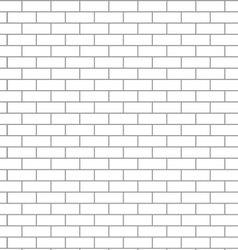 Seamless brick wall white vector image