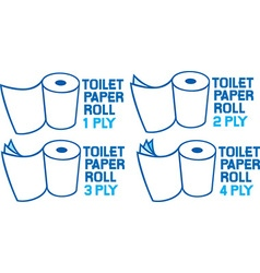 Toilet Paper Icon Set vector image vector image