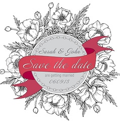 Vintage elegant wedding invitation or card Save vector image vector image