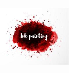 abstract grunge red splash blood splatter on vector image