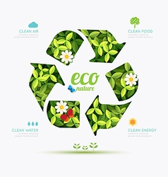 Ecology infographic recycle symbol shape design vector image vector image