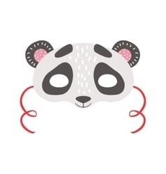 Panda bear animal head mask kids carnival vector
