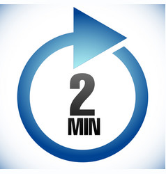2 minute turnaround time tat icon interval for vector