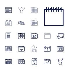 22 calendar icons vector