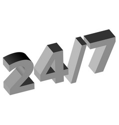 247 service icon vector image
