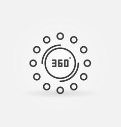 360 degrees concept icon in thin line style vector image