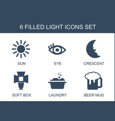 6 light icons vector