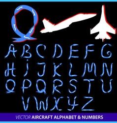Airplane alphabet vector