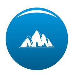 alp icon blue vector image