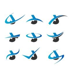 Alphabet J Logo Icons vector
