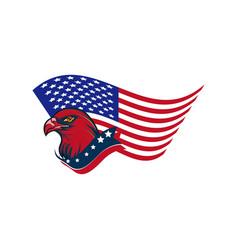 American eagle head image vector
