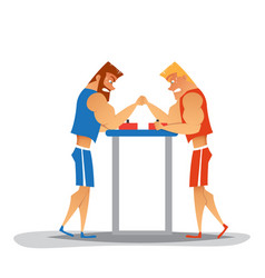 Arm wrestling competition vector