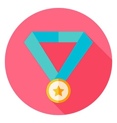 Award Medal Circle Icon vector