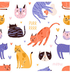 Backdrop with cute funny cat head muzzle face vector