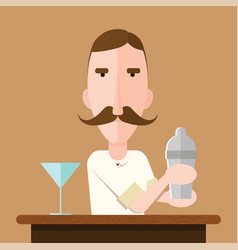 barman vector image