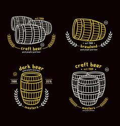 Barrel homebrew emblems vector