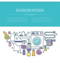 BATHROOM-END vector image