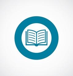 Book icon bold blue circle border vector