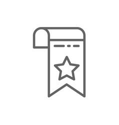 Bookmark webpage marker line icon vector