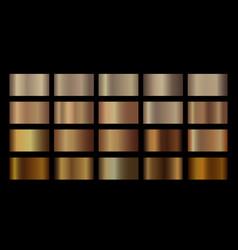 Bronze gradient metallic gold template vector