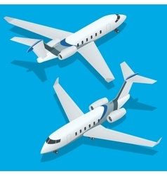 Business aircraft Corporate jet Airplane vector