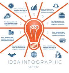 Business concept light bulb infographic 10 vector
