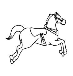Carousel horse carnival icon vector